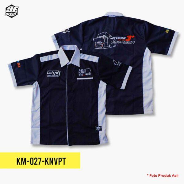 Kemeja Sudiro Tungga Jaya Navy Pendek